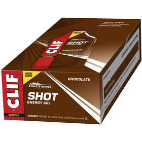 CLIF Bar Shot Geeli Pakkaus 24x34g, Chocolate